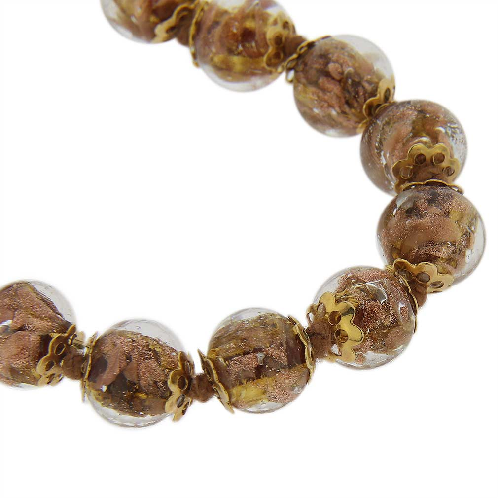 Sommerso Long Necklace - Transparent Golden Brown