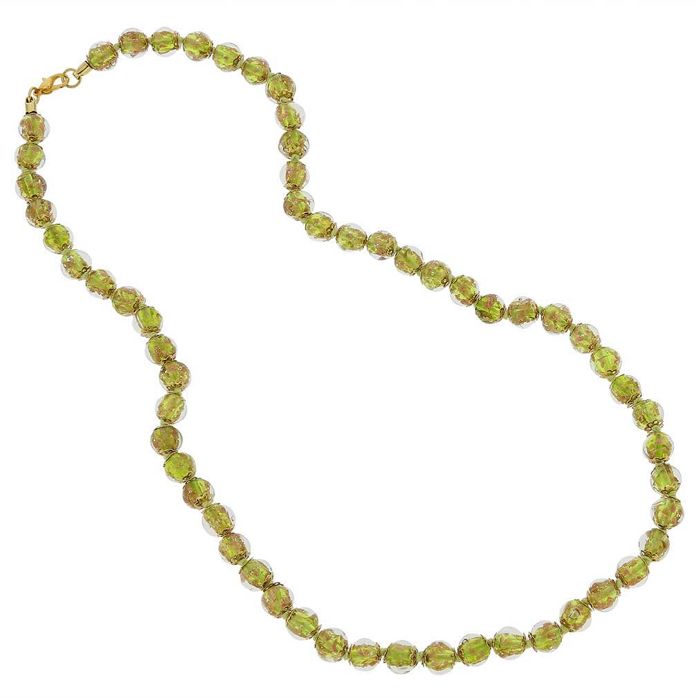 Sommerso Long Necklace - Herb Green