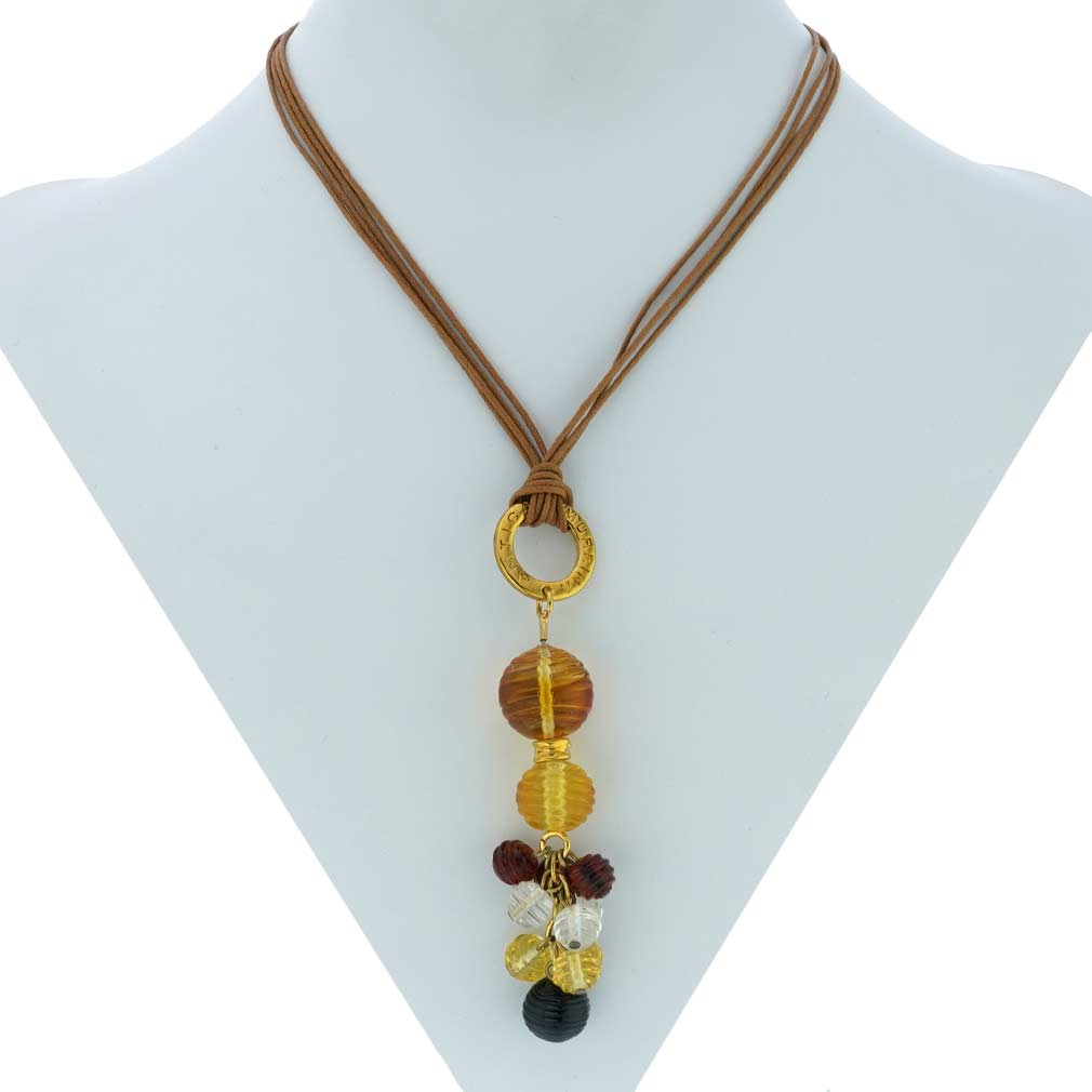 Teti Murano Necklace - Golden Brown
