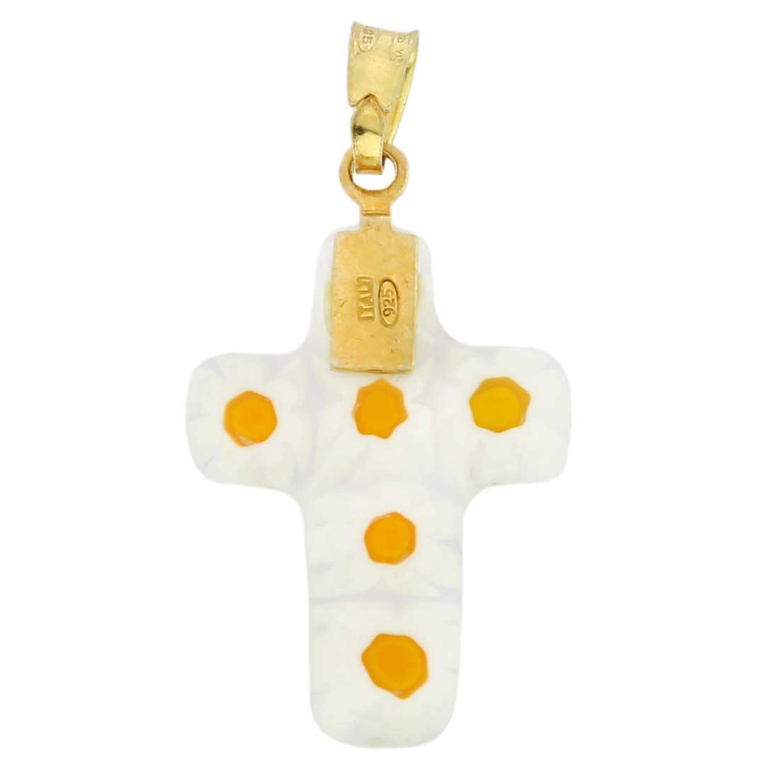 Millefiori glass cross pendant #1