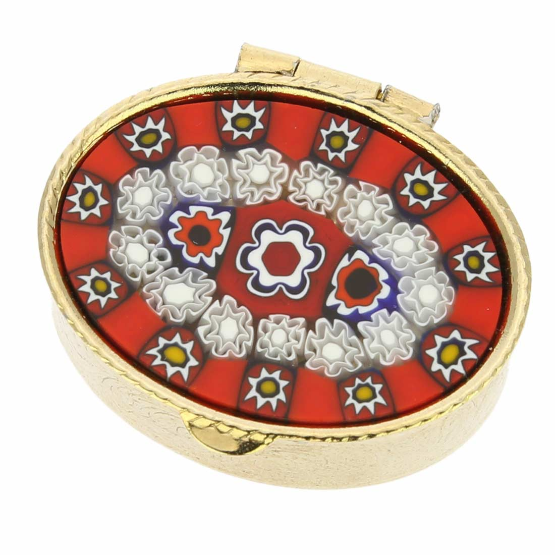 Murano Millefiori Small Pill Box - Oval
