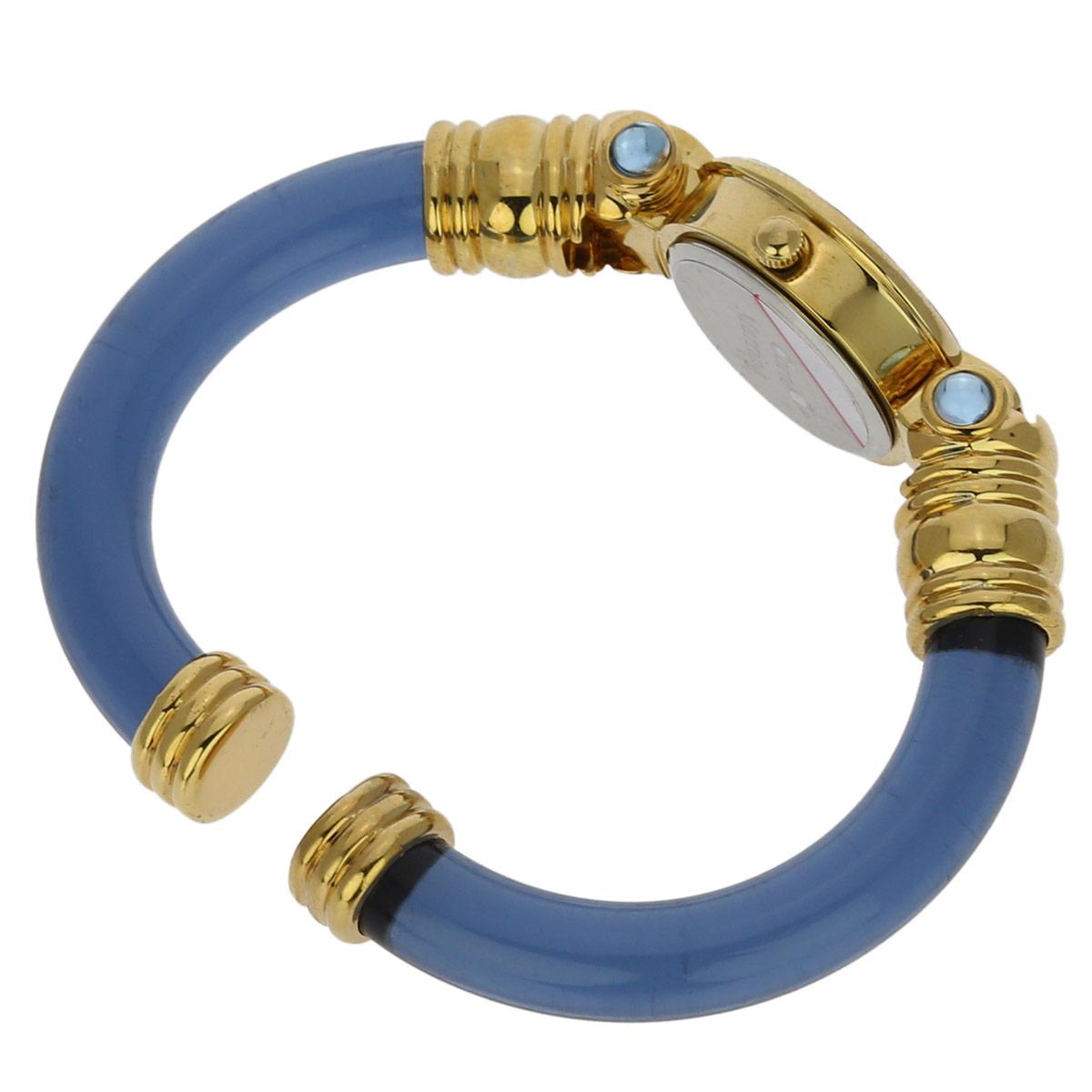 Murano Millefiori Bangle Watch - Light Blue