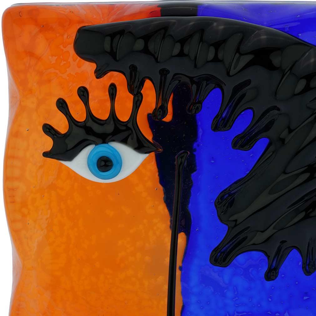 Murano Glass Picasso Head Rectangular