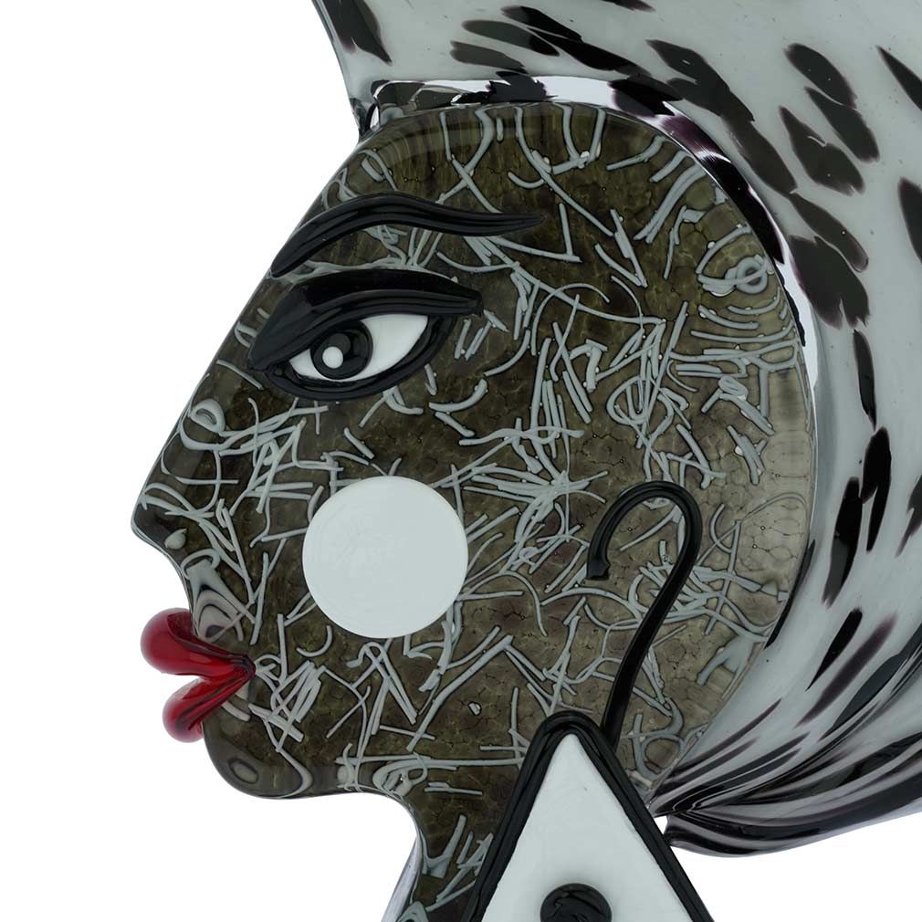 Murano Glass Picasso Head Of An African Woman