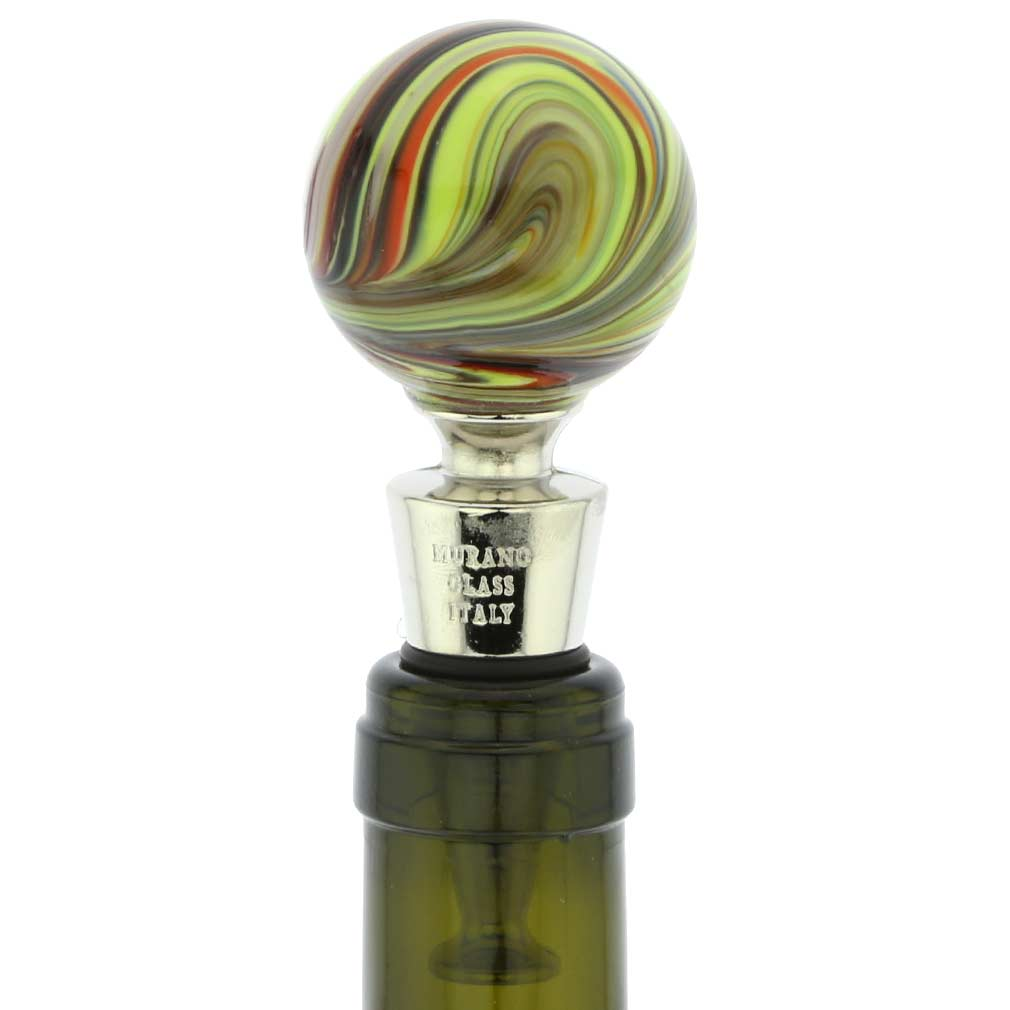 Murano Glass Chalcedony Bottle Stopper