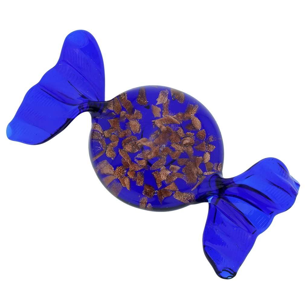 Murano Glass Candy - Avventurina Blue