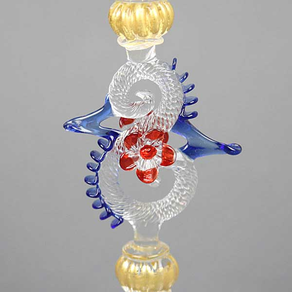 Murano Glass Wine And Champagne Glass - Blue Red