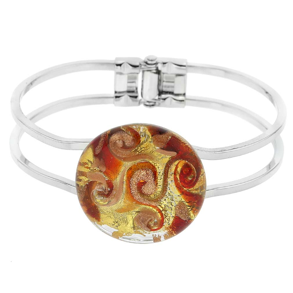Venetian Reflections Metal Bracelet - Red Gold