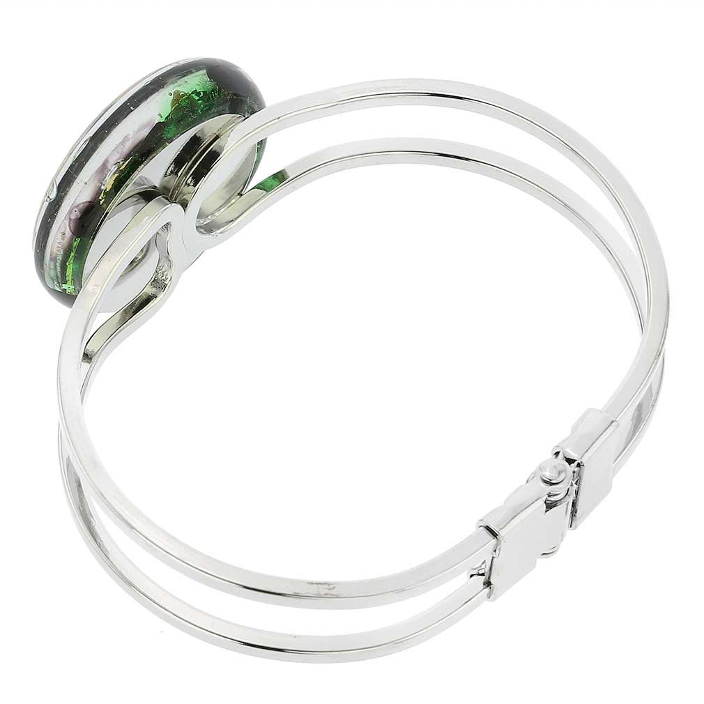 Venetian Reflections Metal Bracelet - Green Gold