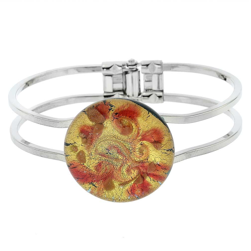 Venetian Reflections Metal Bracelet - Sparkled Swirl