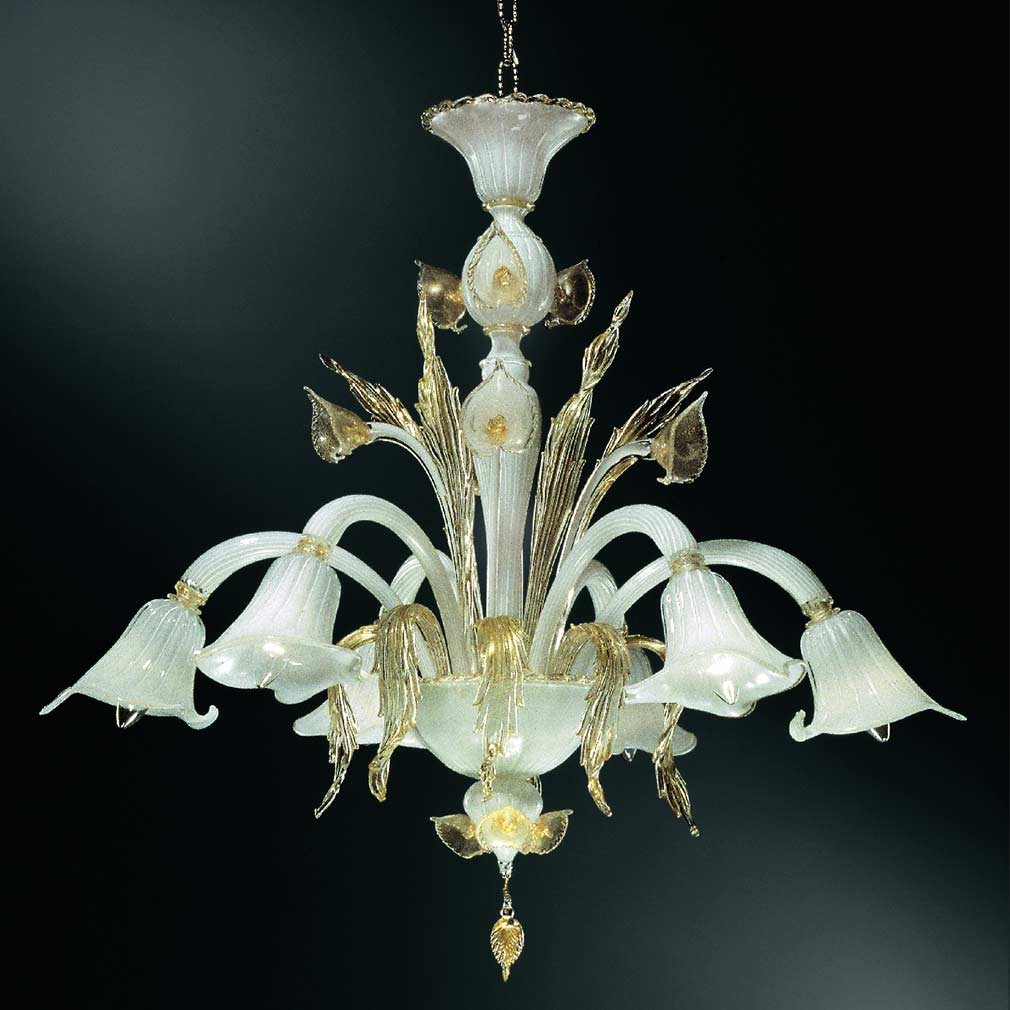 Aquatico Chandelier Italian Glass Chandelier