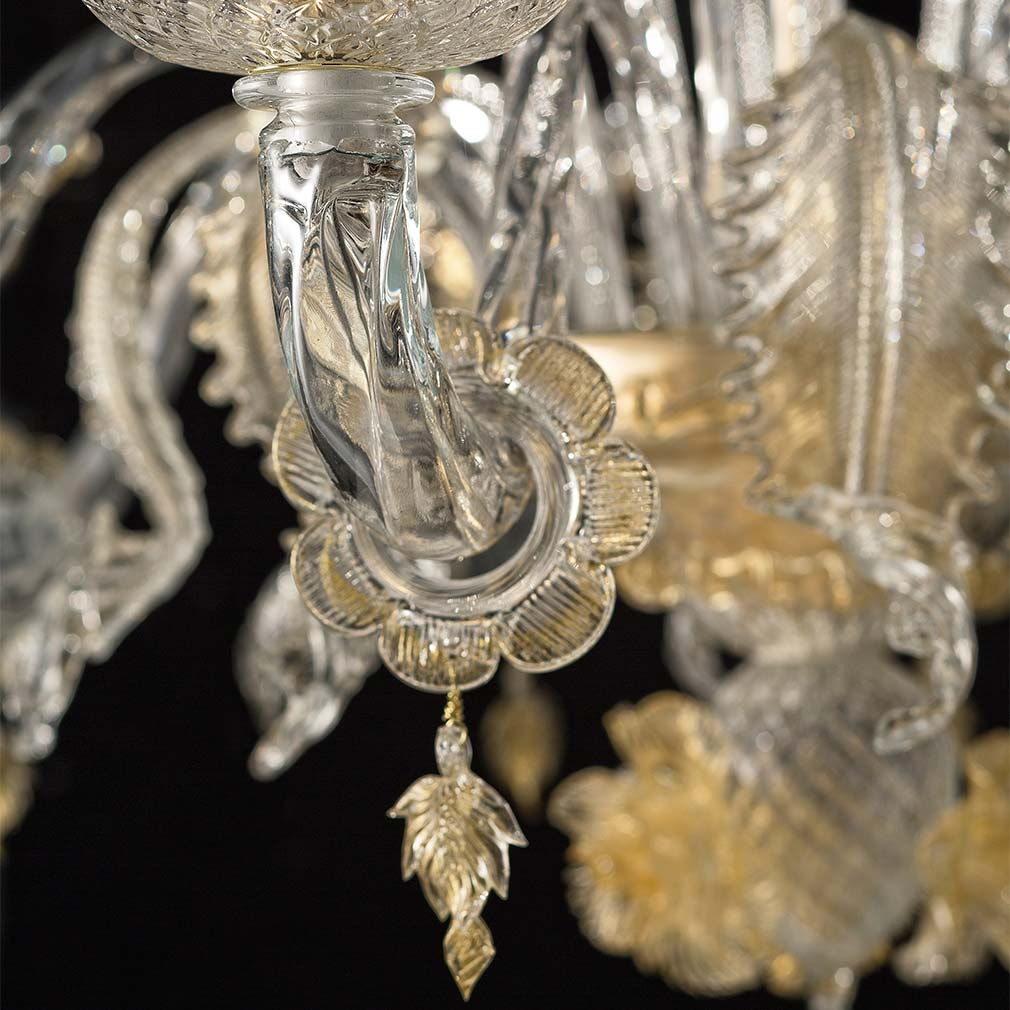 Biancaneve Murano Glass Chandelier