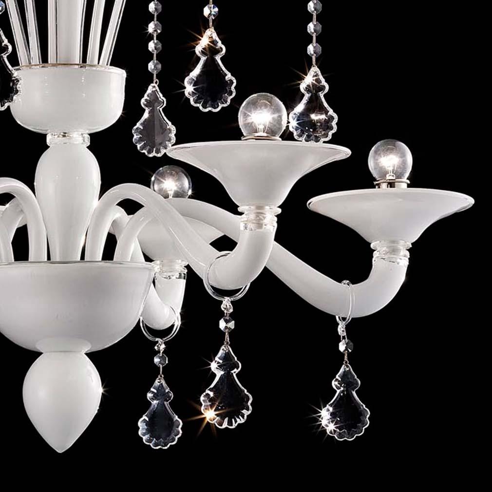 Ca Bianca Murano Glass Chandelier