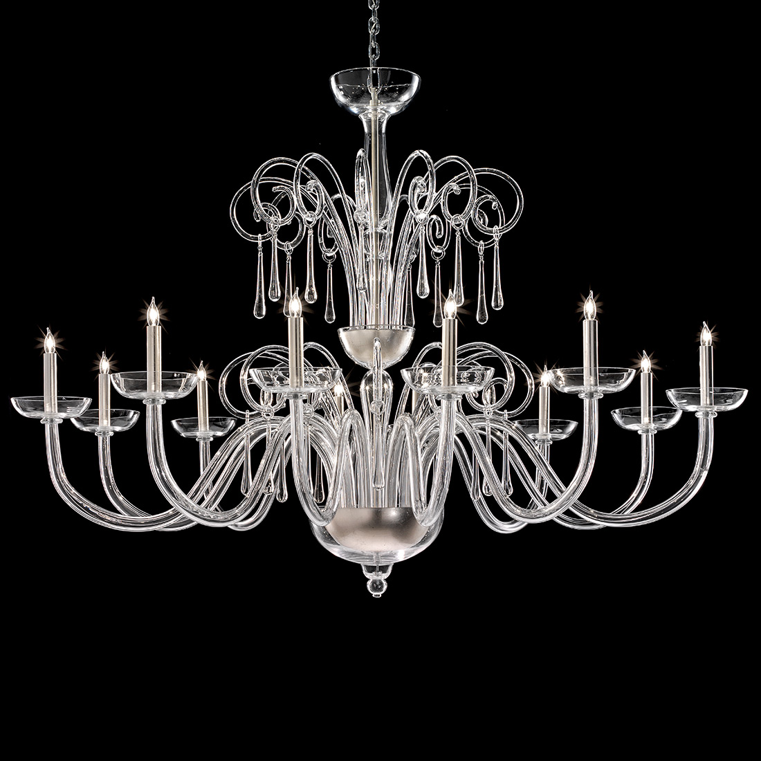 Eduardus Murano Glass Chandelier