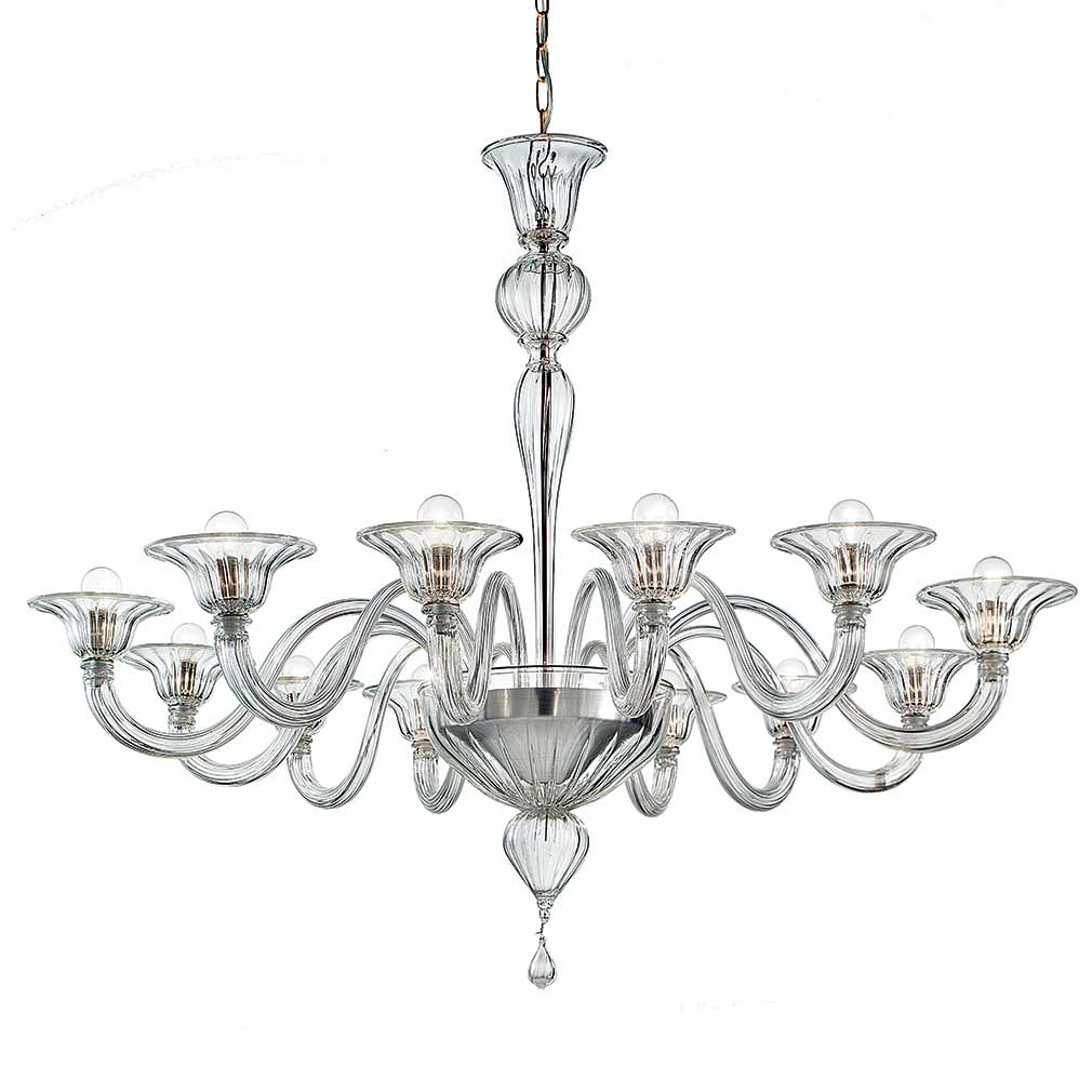 Elegante Murano Glass Chandelier