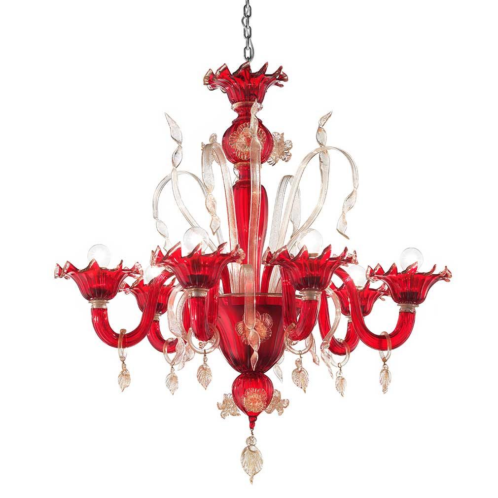 Ettrico Murano Glass Chandelier