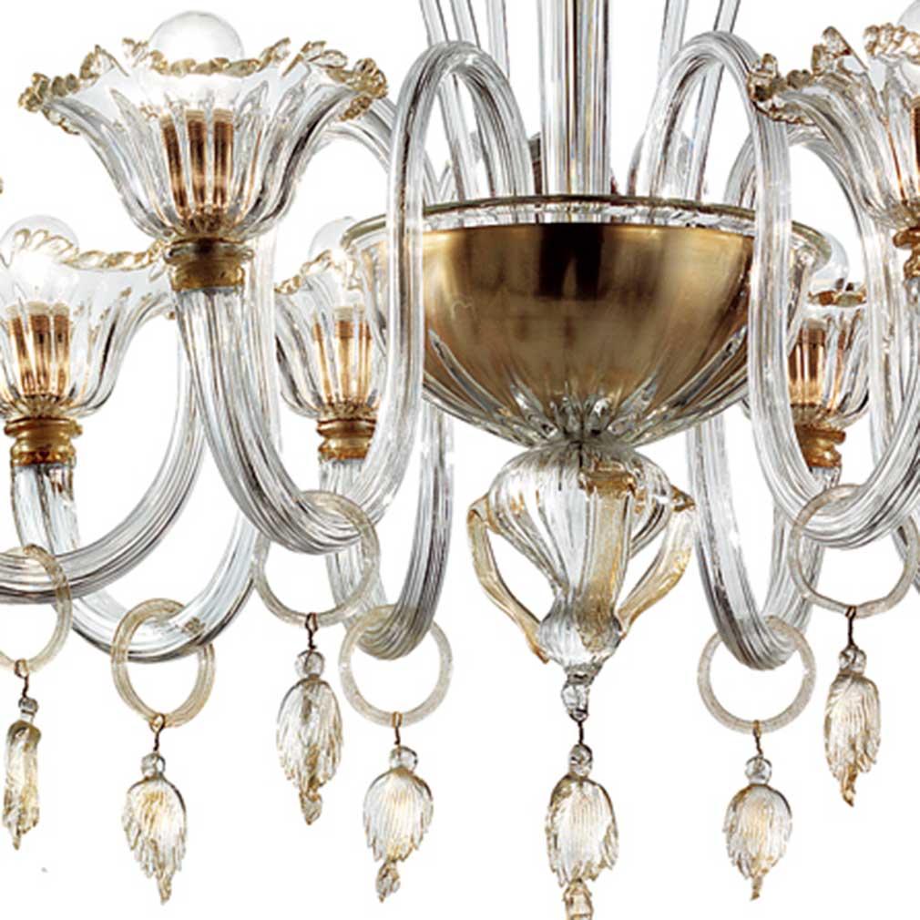 Fratton Murano Glass Chandelier