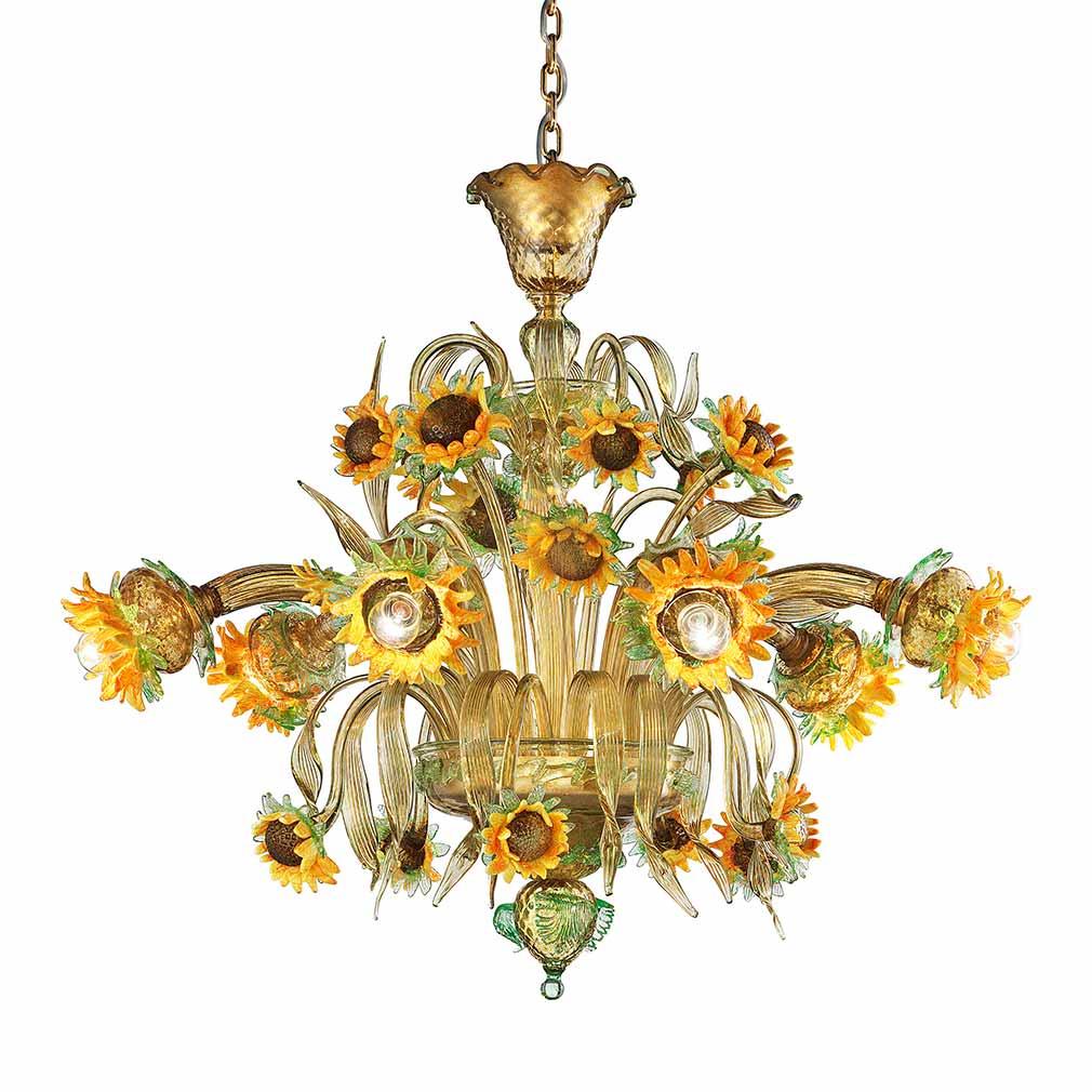 Girasoli Murano Glass Chandelier