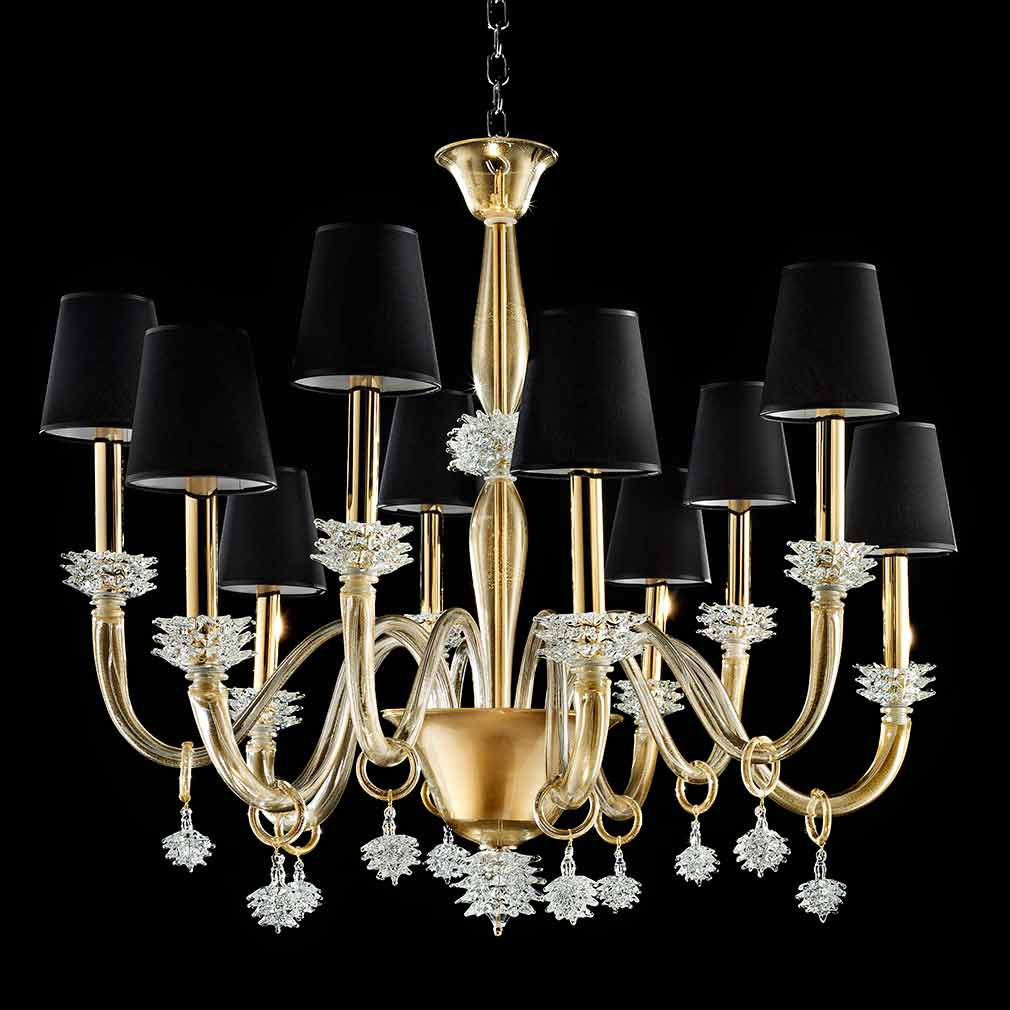 Ira Murano Glass Chandelier