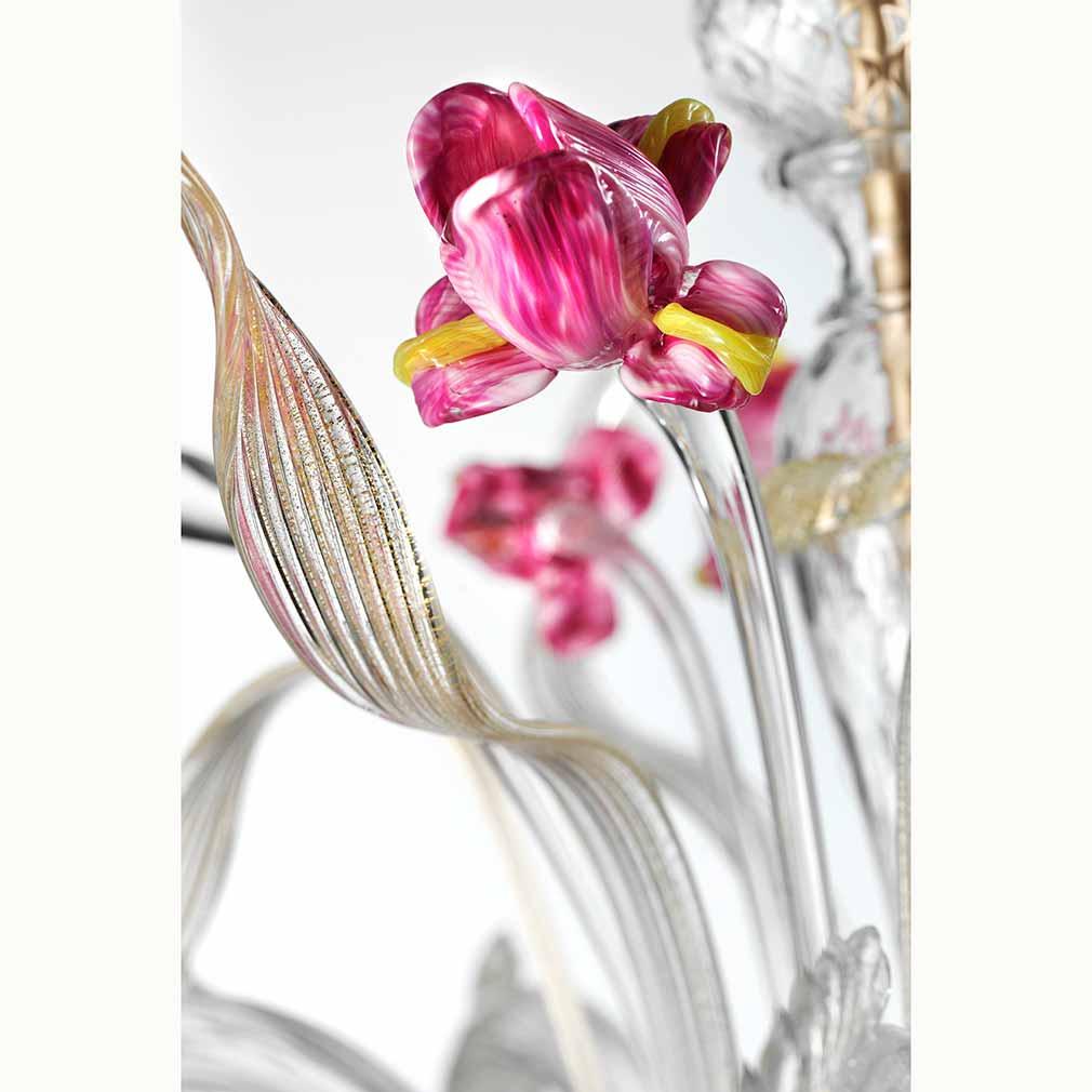Iris Murano Glass Chandelier
