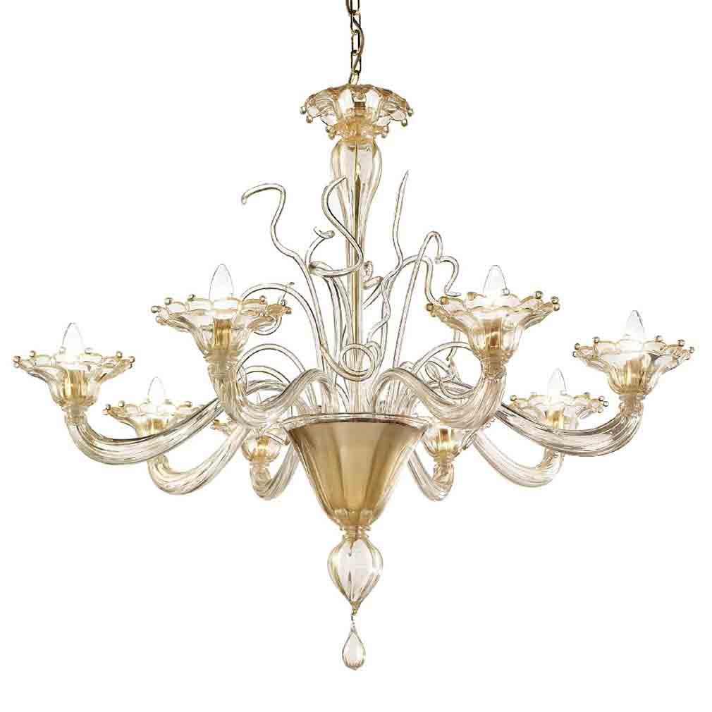 Murano Venetian Crystal Chandelier: Murano Glass Chandeliers