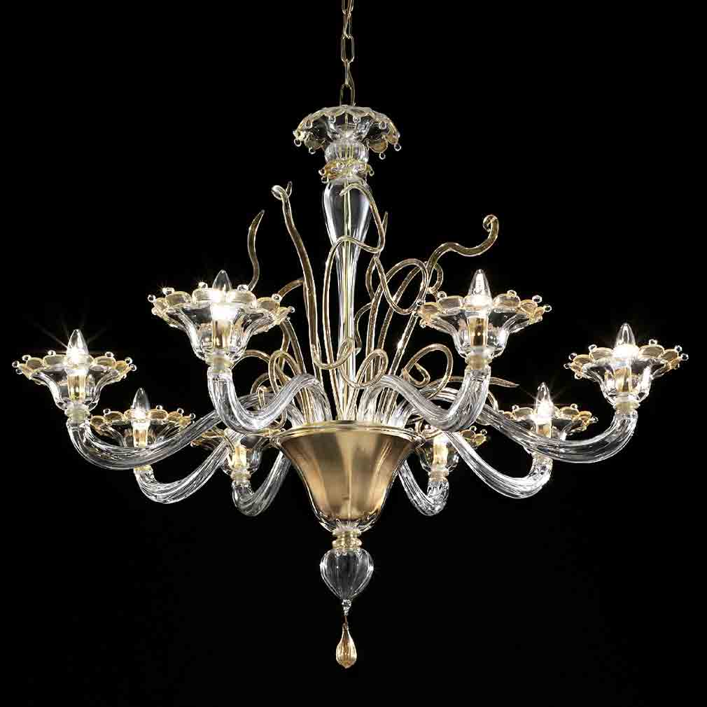 Small Murano Crystal Chandelier: Murano Glass Chandeliers