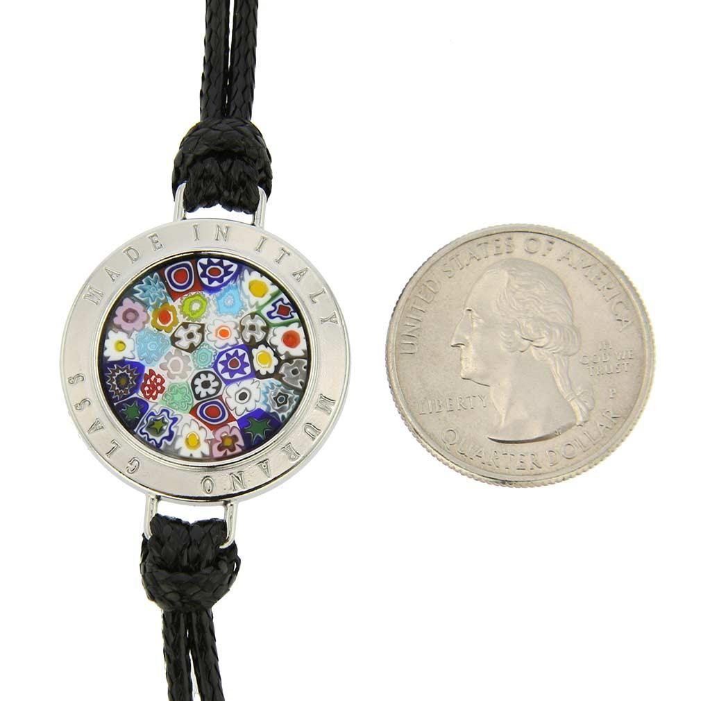 Lauretta Murano Glass Millefiori Bracelet - Black