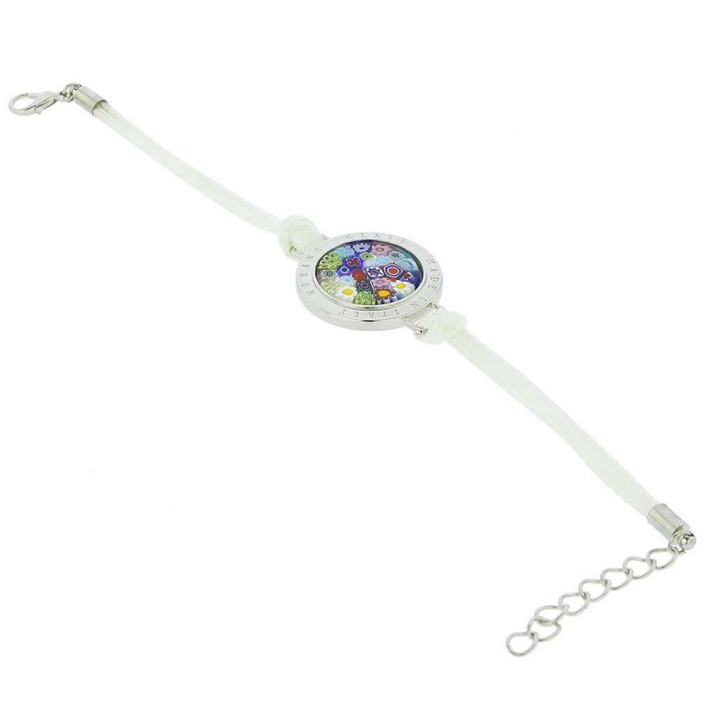 Lauretta Murano Glass Millefiori Bracelet - White