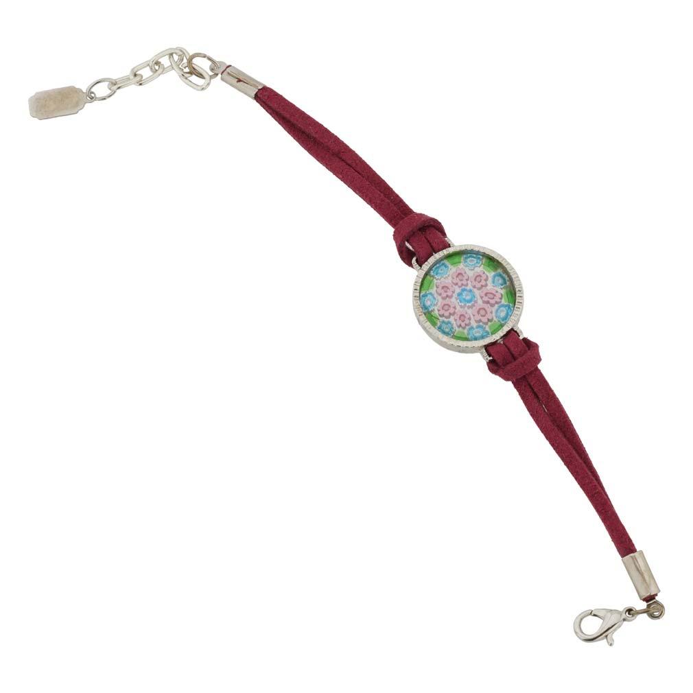 Rosetta Murano Glass Millefiori Bracelet - Red