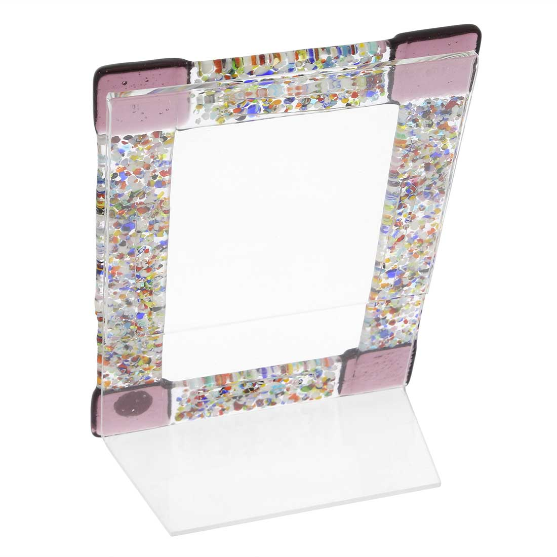 Murano Klimt Photo Frame - Purple Small