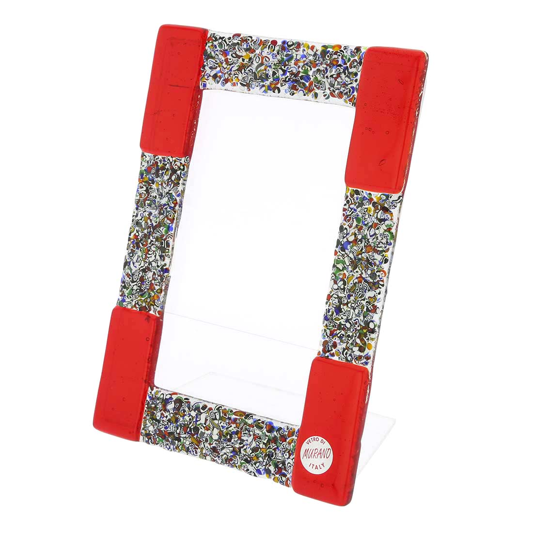 Murano Klimt Photo Frame - Red Small