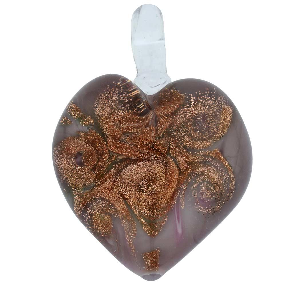 Tender Heart Pendant- Rose Swirl