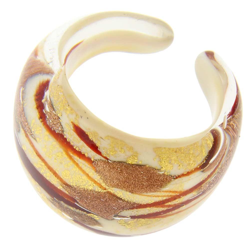Murano Ring in Domed Design