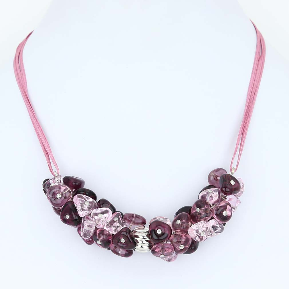 Preziosa Murano Glass Necklace - Purple