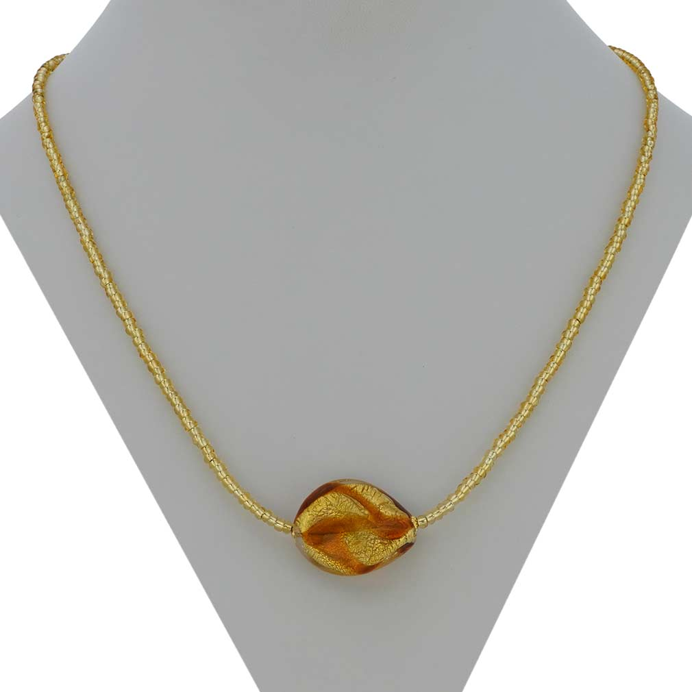 Royal Cognac Spiral Necklace