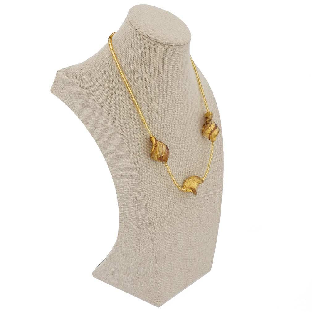 Royal Amethyst Spiral Necklace
