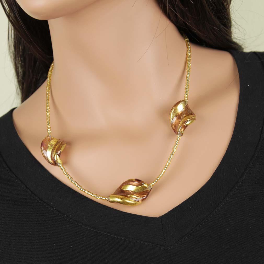 Royal Purple Spiral Necklace