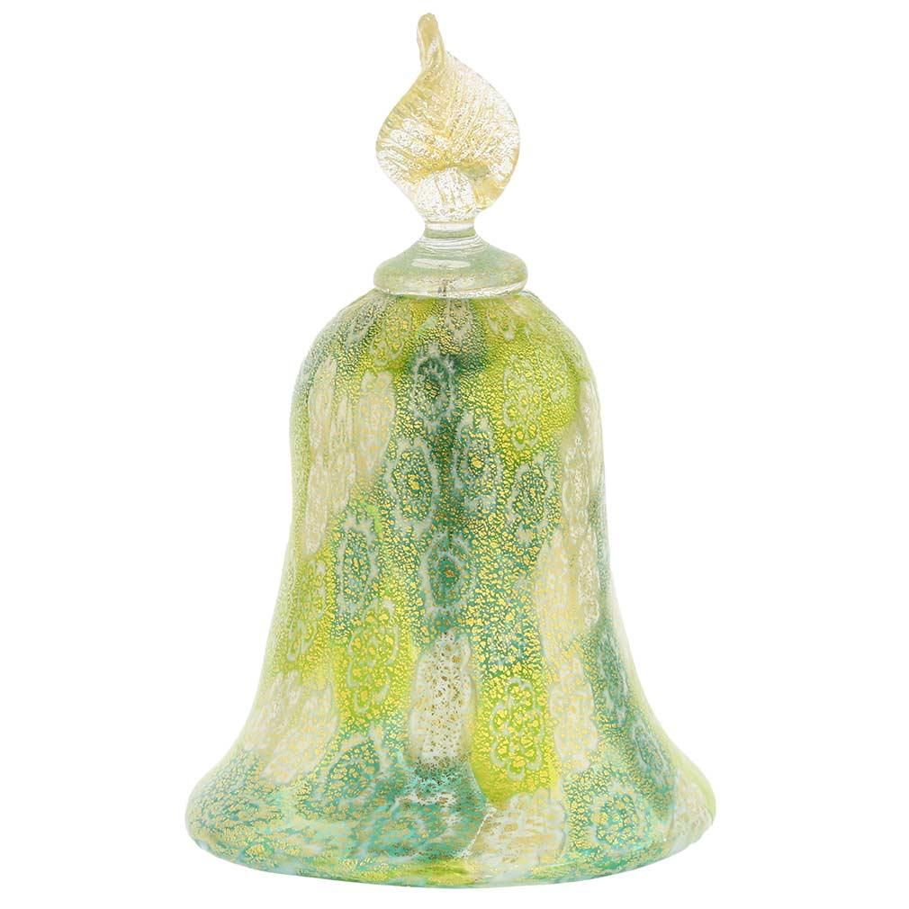 Golden Quilt Apple Green Millefiori Bell