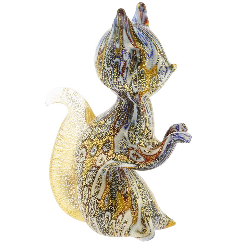 Golden Quilt Millefiori Murano Squirrel
