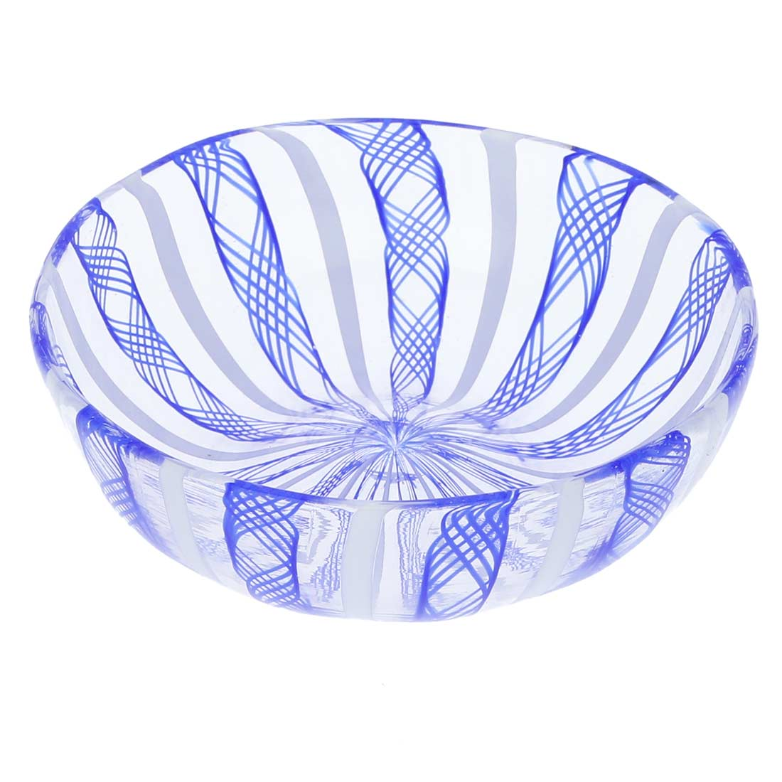 Murano Glass Filigrana Candy Dish