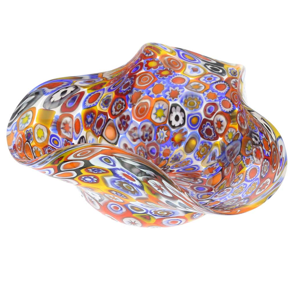 Murano Millefiori Decorative Bowl - Multicolor