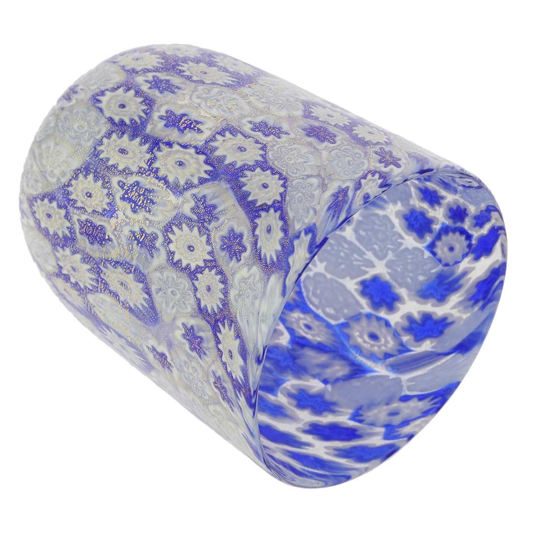 Murano Tumbler - Blue Gold Millefiori