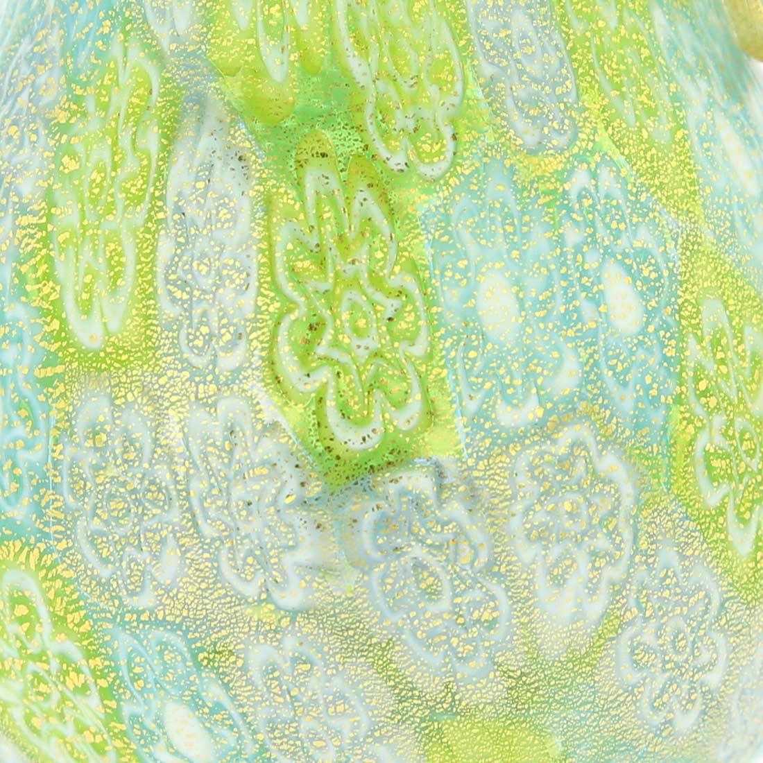 Golden Quilt Murano Millefiori Pear