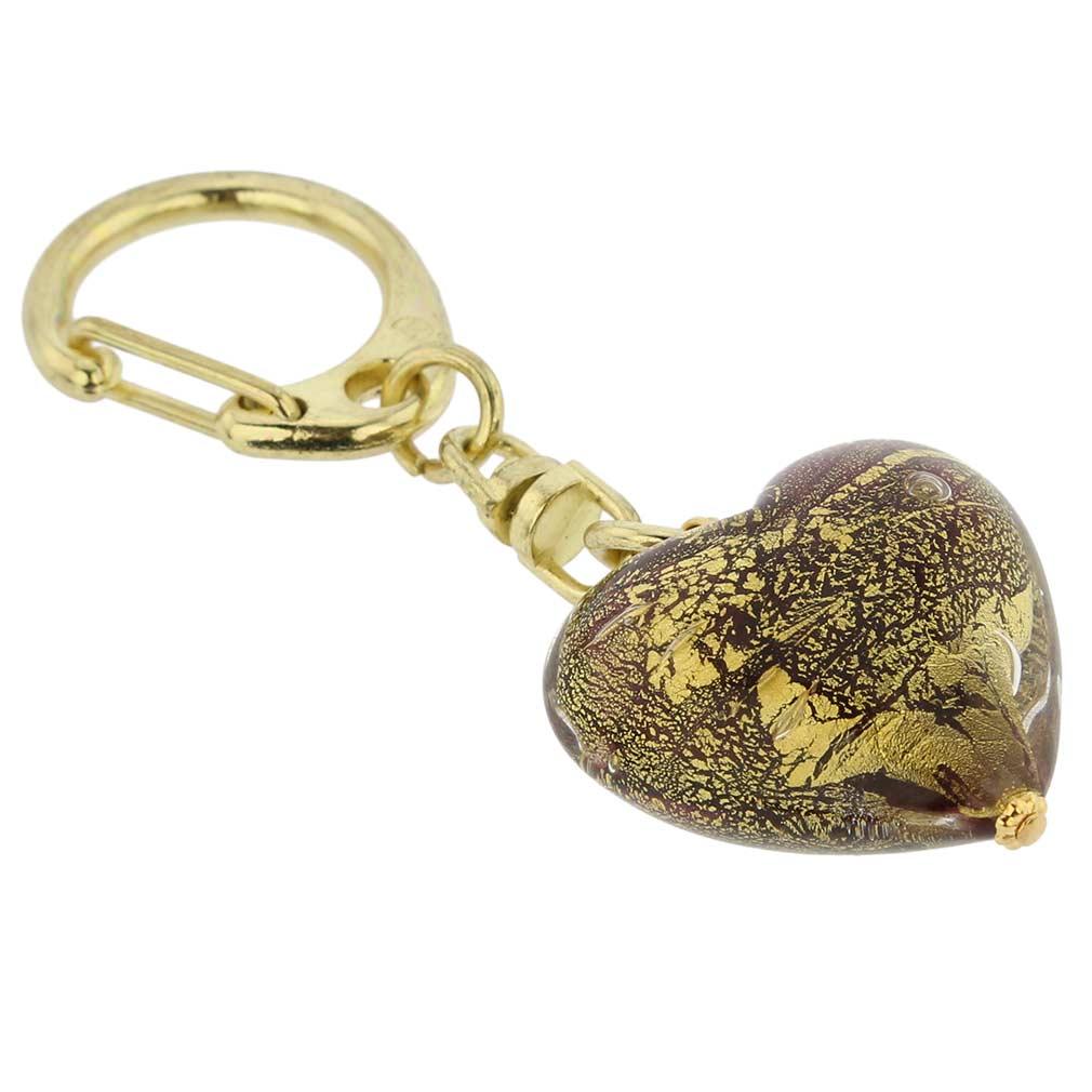 Murano Heart keychain #2
