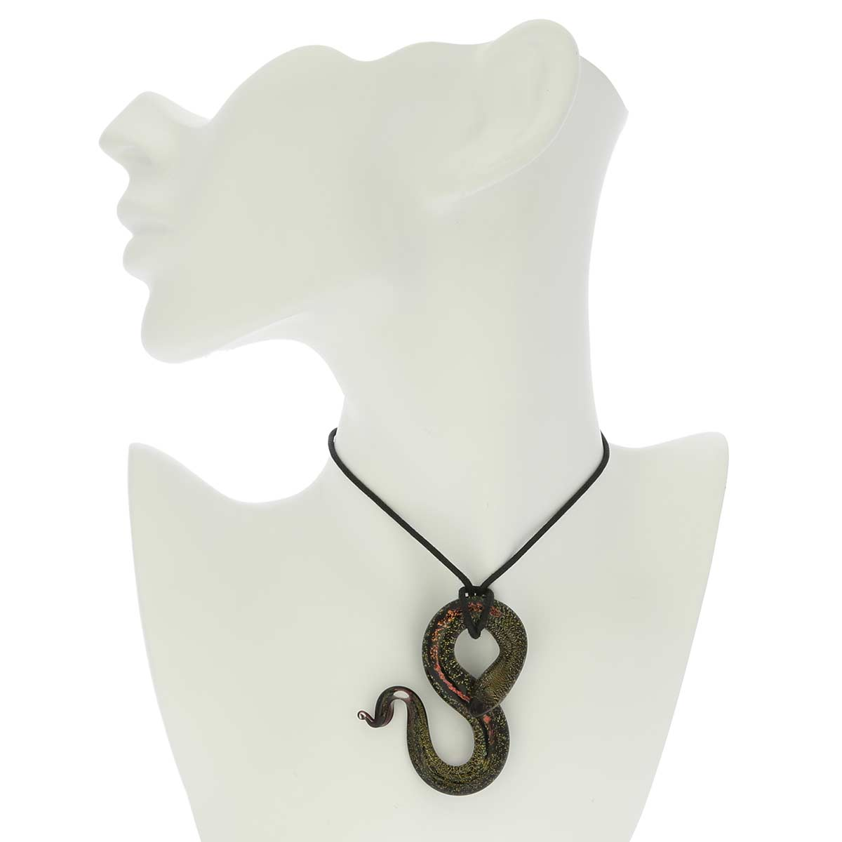 Murano Glass Large Snake Pendant