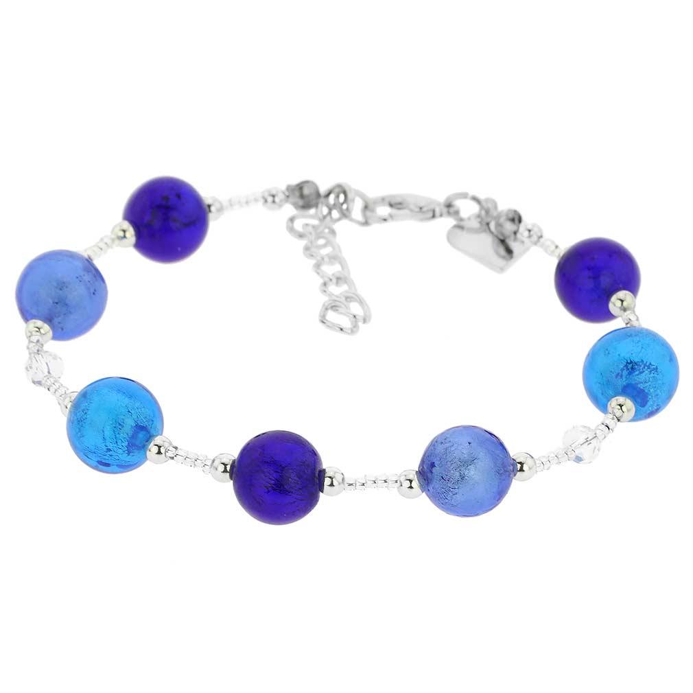 Beatrice Murano Glass Bracelet - Blue