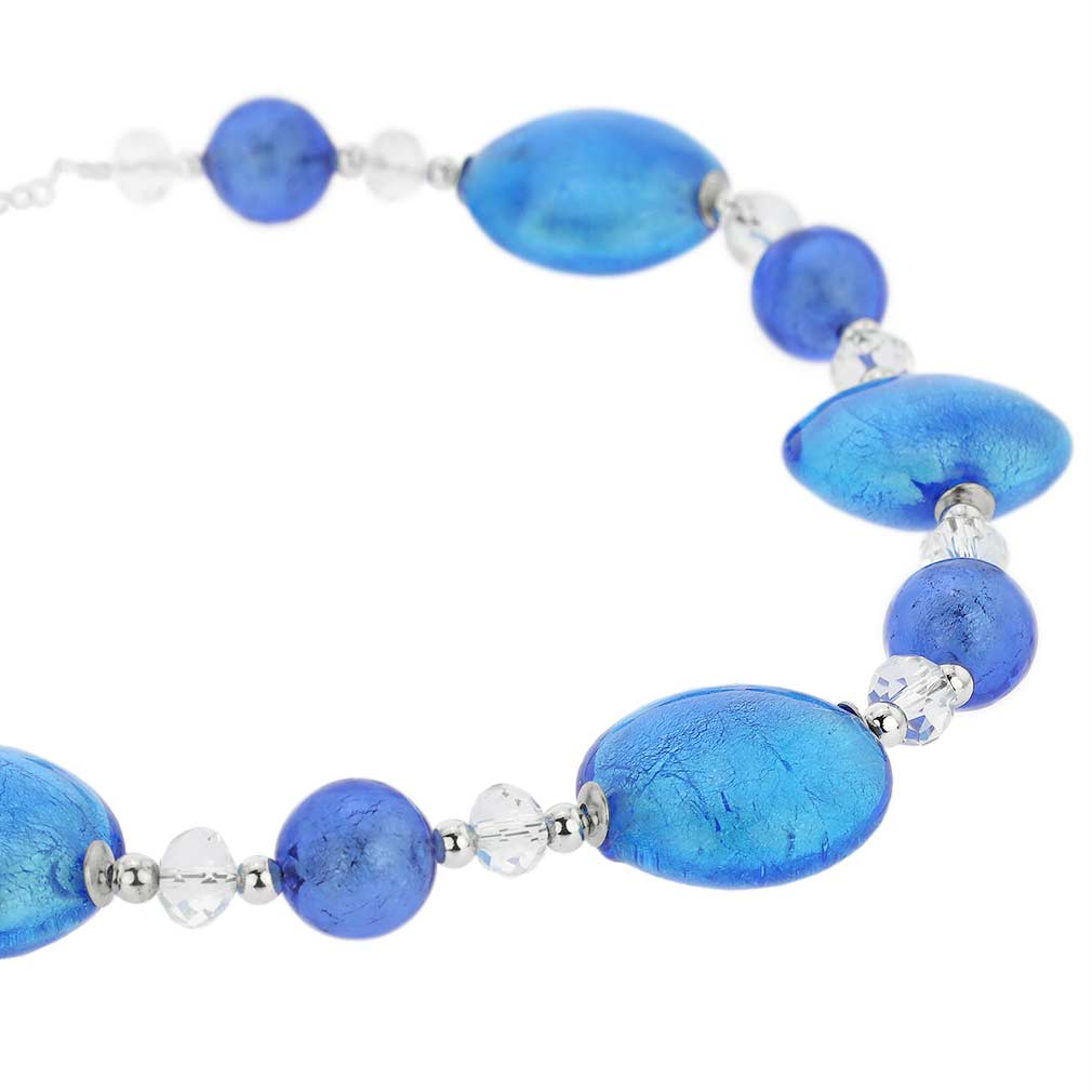 Oceano Murano Glass Necklace - Blue