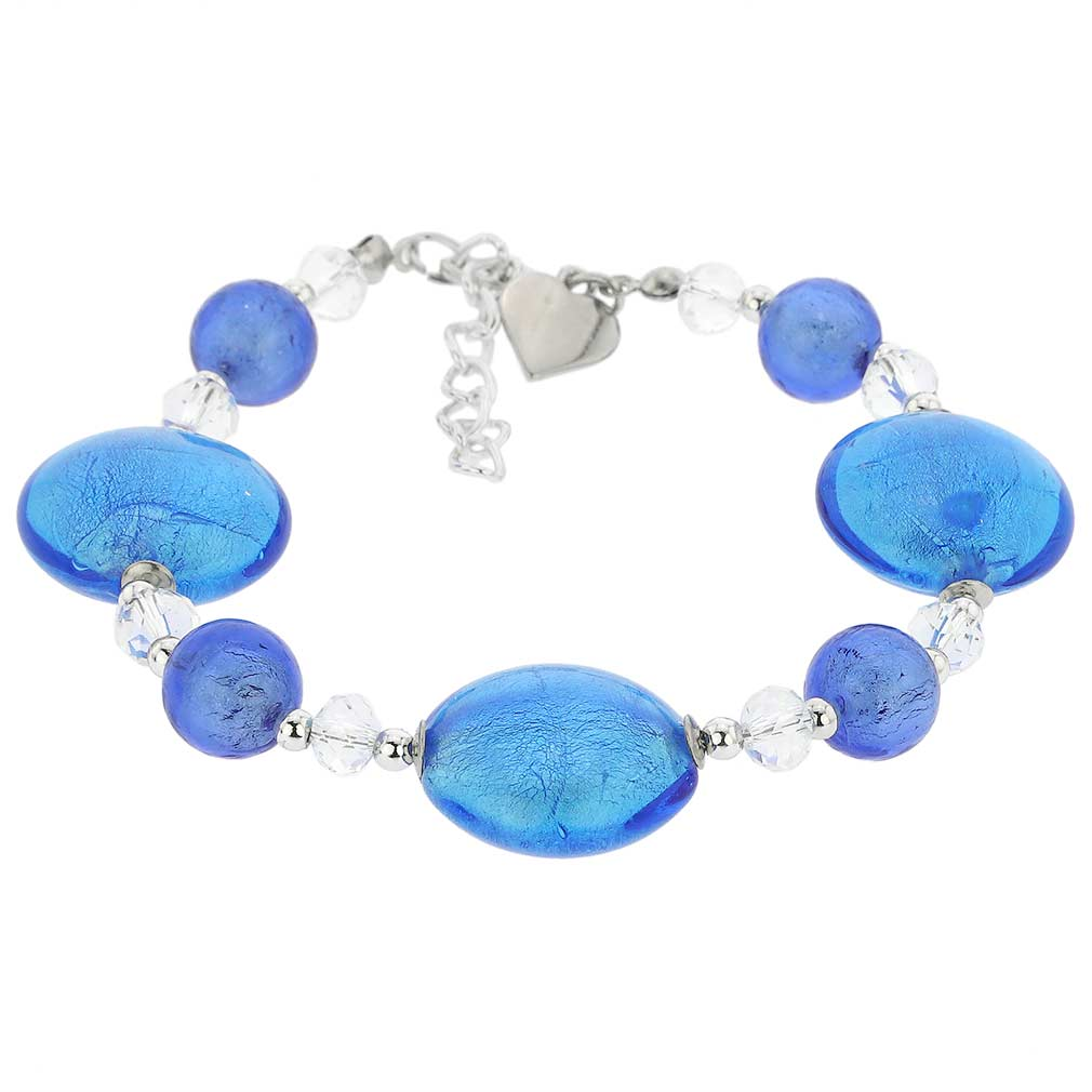 Oceano Murano Glass Bracelet - Blue