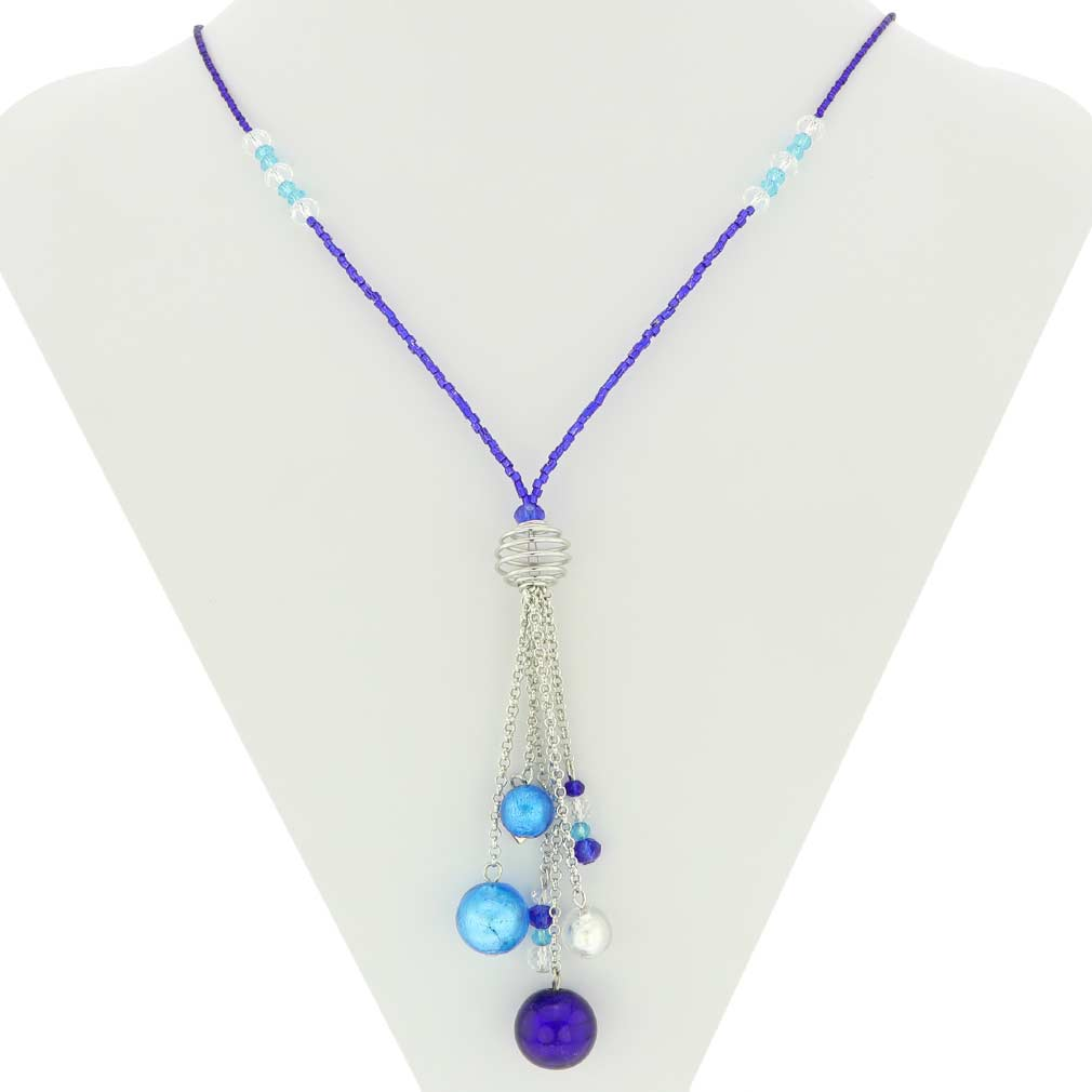 Sorgente Murano Glass Necklace - Blue