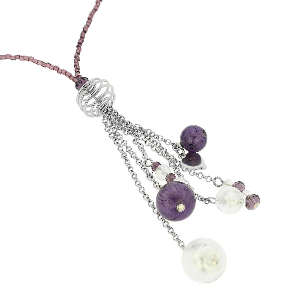 Sorgente Murano Glass Necklace - Purple